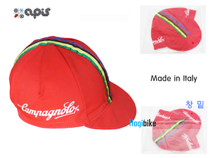 apis 캄파놀로 -빨강- 사이클캡 쪽모자 조각모 Campagnolo cycle cap Red